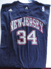 Mens #34 NJ Harris NWT 2XL Dark Blue NBA T-Shirt Replica Tribute Cotton