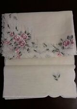"""72x108""""EmbroideryTablecloth Spring Rose Organza Table Topper Home Party Decor"""