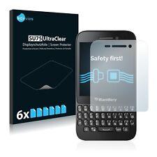 6x Protector Pantalla BlackBerry Q5 Pelicula Protectora Transparente