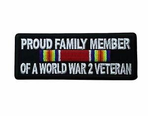Proud Family Member World War 2 Veteran 4 inch Patch IVAN6640 F4D30Q