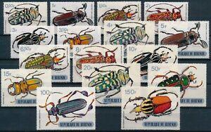 [P15926] Burundi 1970 : Beetles - Good Set Very Fine MNH Stamps - $50