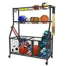 UBOWAY Sports Equipment Storage Rack: Garage Basketball Organizer for Ball