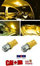 2pcs T10 194 168 LED Amber 5 LED 5050 SMD W5W Bulb Wedge Side Light Bulb Orange