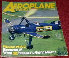 Aeroplane Monthly Magazine 1987 January Miles Gemini,Blenheim,Pitcairn,Catalina