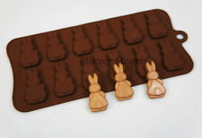 12 cell Bunny Butts Rabbit Easter Chocolate Candy Silicone Bakeware Mould Cake