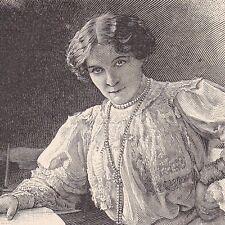 Portrait Berthe Bady Lodelinsart Belgique Actrice Théâtre Henri Bataille
