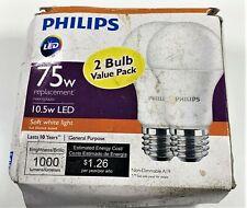 Philips A19 LED Light Bulb, Non-Dimmable, 1000 Lumen, Soft White Light