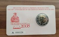 Coincard mit 2 Euro Gedenkmünze Slowenien 2008 - BU - P. Trubar