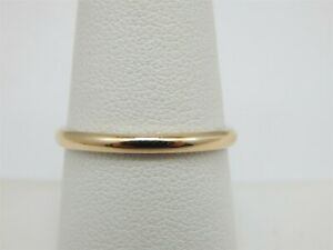 SIMPLE 14K YELLOW GOLD POLISHED WEDDING BAND RING SIZE: 8