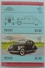 1937 LINCOLN ZEPHYR Car Stamps (Leaders of the World / Auto 100)