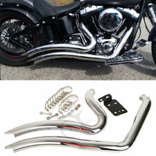 Stepped Exhaust Pipe Heat Shield For Harley Softail Custom Fat Boy FLST Heritage