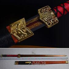"High-Quality China Sword ""Han Jian""High Carbon Steel Katana Alloy Fittings#034"