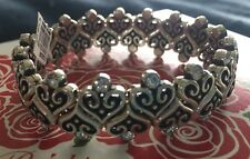 Brighton ALCAZAR LOVE silver Swarovski crystal stretch  BRACELET nwt