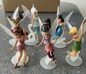6 Tinkerbell Fairies Action Figure Decor Toy