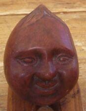 Avacado Brown Ceramic Face Fruit Figural Figurine