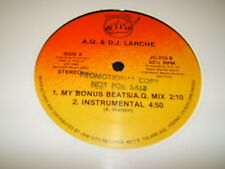 """A.Q. & D.J. Larche*  – And My Beat Goes On  USED 12"""" 1989 Jam city records"""