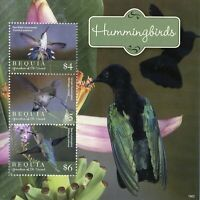 Bequia Gren St Vincent 2019 MNH Hummingbirds Bee Hummingbird 3v M/S Birds Stamps