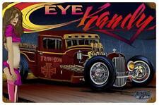 Hot Rod Rat Truck Pin Up Girl Metal Sign Man Cave Garage Body Shop Club MNI030