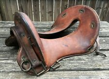 Antique McClellan Cavalry Saddle WWI Era Vintage Military