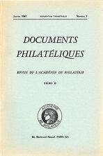 DOCUMENTS PHILATELIQUES + Revue de l'Académie de philatélie - 1961 N° 7 ESPAGNE