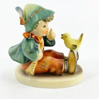 "Vintage Goebel Hummel Figurine Singing Lesson #63 TMK-3 3"" Tall Yellow Bird Boy"