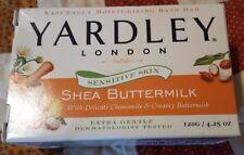 Yardley London For Sensitive Skin Shea Buttermilk Bar Soap, 4.25 oz