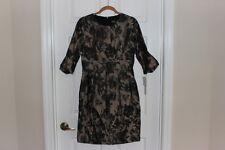 BIGIO Collection Dress Floral Print Size 8 Taupe & Black Neiman Marcus NWT RETRO