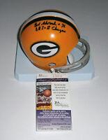 PACKERS Bob Skoronski signed mini helmet  w/ SB I & II JSA COA AUTO Autographed