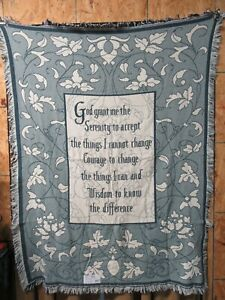 Pure Country Weavers  Serenity Prayer Blanket 1053-a Tapestry Throw Blanket
