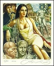 Kirnitskiy Sergey 2015 Exlibris C4 Italia Woman Erotic Vatican Julius Caesar 232