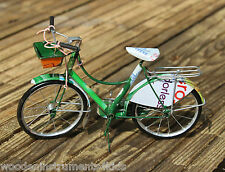Miniature model bicycle ornament made from recycled cans model bike  Fair Trade