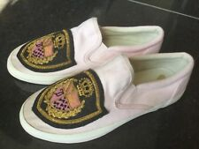 Juicy Couture New & Gen. Girls Pink Canvas Pumps Size UK 12, EU 31 With Emblem