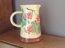 Water Pitcher Pizzato Italian Art Pottery Earth tones & Pale Yellow Hand Made