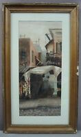 VINTAGE ORIG WATERCOLOR__Asian Cityscape__Signed & Framed__ExC__SHIPS FREE