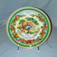 """Wedgwood Beatrix Potter MERRY CHRISTMAS from Peter Rabbit 8"""" PLATE 2000"""