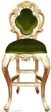 Bar Stool - Modern Bar Stool - Gold Frame Bar Stool - Green Velvet Upholstery