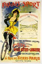 Palais-Sport Original Vintage Bicycle Poster - Cycling - Velodrome - PAL