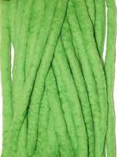 Vivid Green Dreadlocks - 16 Handmade felted merino wool double ended dreads