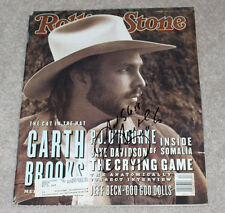 COUNTRY SINGER GARTH BROOKS SIGNED AUTHENTIC ROLLING STONE MAGAZINE w/COA