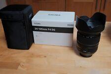 Sigma DG HSM DG OS 24-105 mm F/4 lente asférica montaje de Nikon F