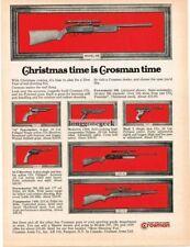 1970 Crosman CO2 Air Rifles Pistols Pellet Guns Vtg Print Ad