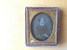HIGH FASHION STUDY DAG VINTAGE Beautiful Teenager with Lace Gloves Daguerreotype