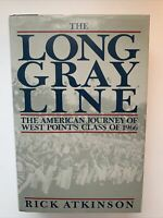 The Long Gray Line by Rick Atkinson, 1st Edition / 1st Printing, 1989, HCDJ
