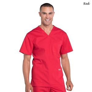 Cherokee Scrubs PROFESSIONAL Men's Medical Uniform V-Neck Top WW695 Regular Size