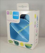 MAM Feeding Bowl Ciotola bimbo a 2 scomparti con coperchio mesi 6+ blu azzurro