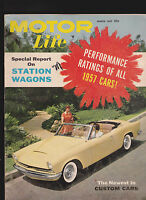 Motor Life Magazine Station Wagons 1957 Cars March 1957  Free US S/H