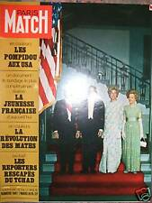 PARIS MATCH 1087 (03/70)Pompidou aux USA,Tchad