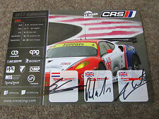 Le Mans Intercontinental Cup  Original  Multi  Signed  Promotional Card  2011