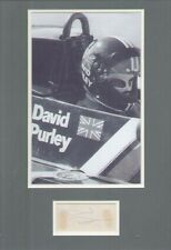 DAVID PURLEY (FORMULA ONE DRIVER) SIGNED AUTOGRAPH