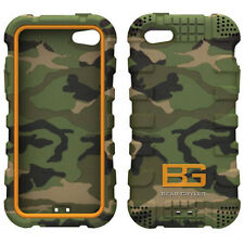 Bear Grylls Azione Custodia Woodland Camo iPhone 5 5s Duro Cover & se Screen Guard